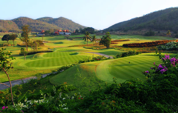 tee boxes, banyan golf club, hua hin, thailand