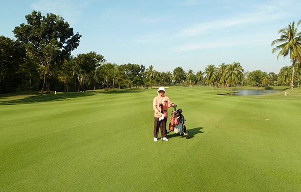 caddie at lam lukka country club, bangkok, thailand