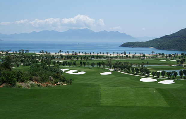 view towards sea vin pearl golf club, nha trang, vietnam