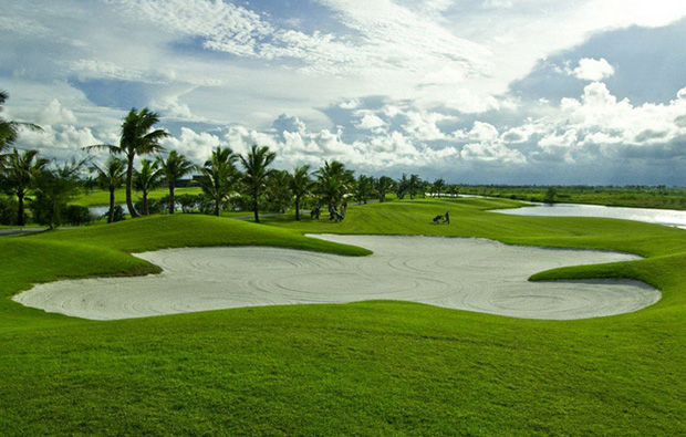 bunker at brg ruby tree golf resort at hanoi vietnam