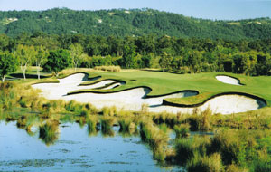 Bunker complex at The Glades Golf Club, Gold Coast, Australia
