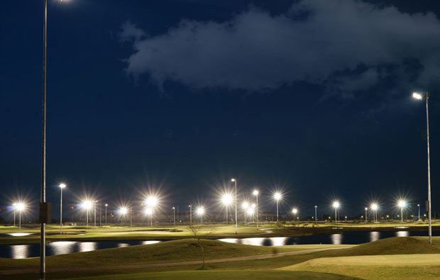 night golf at lakewood links, bangkok, thailand