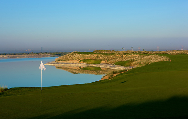view from green yas island links, abu dhabi, united arab emirates