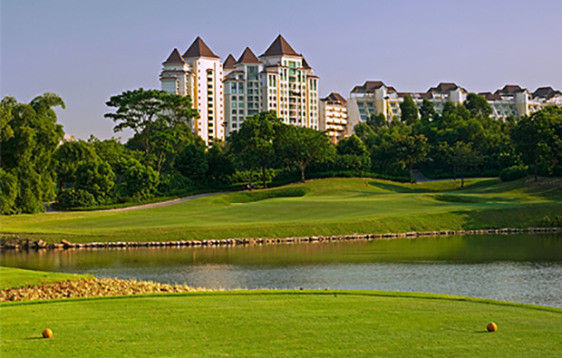club house view at vijay course mission hills, guangdong china