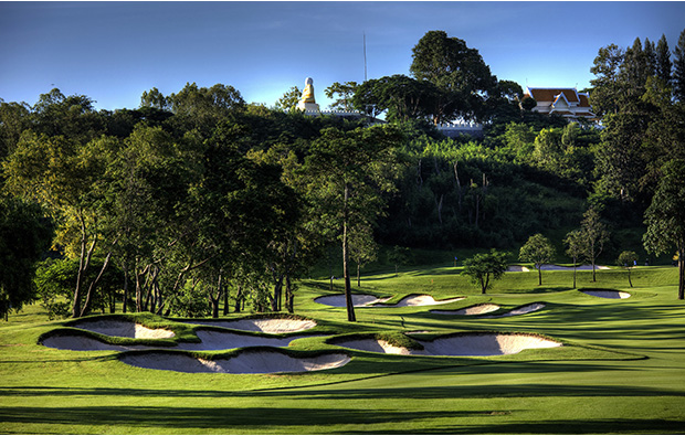 bunkers, siam country club old course, pattaya, thailand
