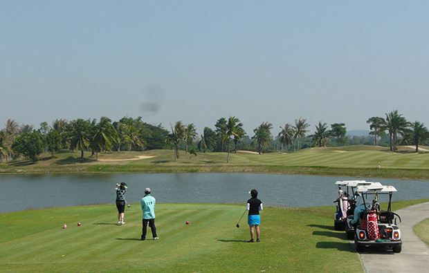 Tee Box at Majestic Creek Golf Club Hua HIn