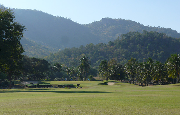fairway, palm hills golf club, hua hin, thailand