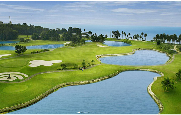 course view at palm springs golf country club in batam island, indonesia
