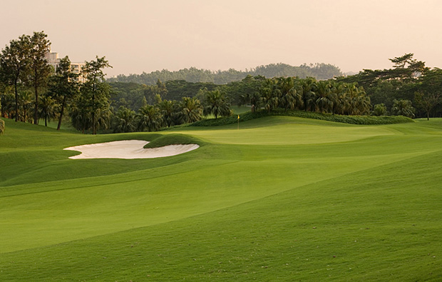 fairway at world cup course mission hills, guangdong china