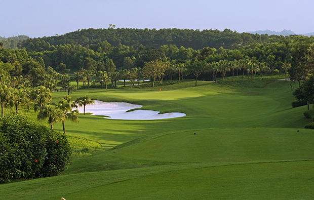 fairway view  at world cup course mission hills, guangdong china