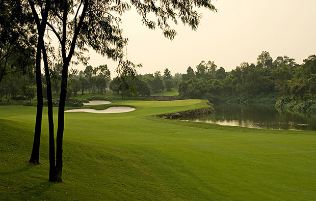 scenery at  at world cup course mission hills, guangdong china
