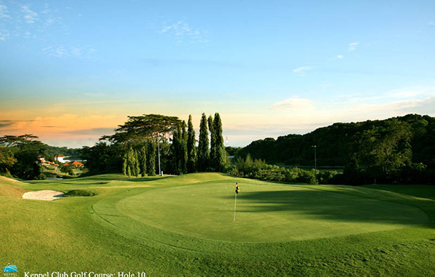5,917 metres of par 72 undulating golf course at keppel club, singapore