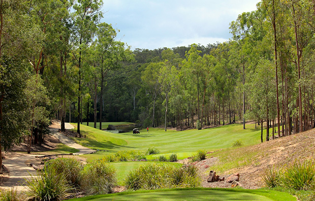 Tree-lined fairways atBrookwater Golf Club, Brisbane, Queensland