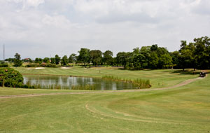 lake at river course, emeralda golf country club, jakarta, indonesia