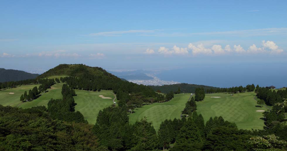 aerial view Hakone Yunohana Golf Course, Japan