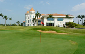green and clubhouse, joengsan country club, ho chi minh, vietnam