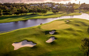 Aerial View Royal Pines Golf Club, Gold Coast, Australia