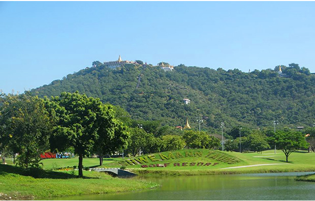 Shwe Mann Taung Golf Resort view across lake