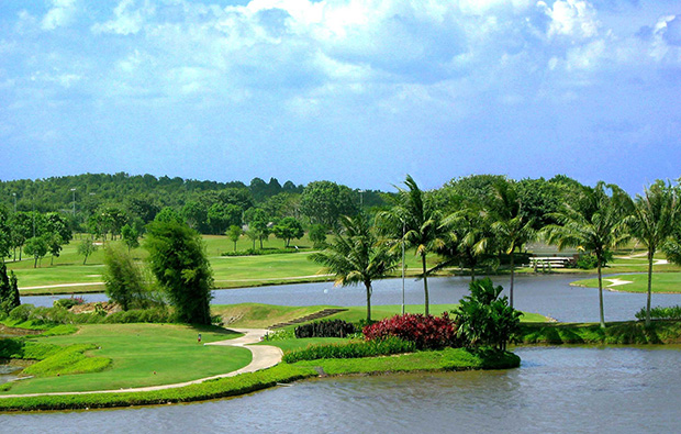 water hazard southlinks country club, batam island, indonesia