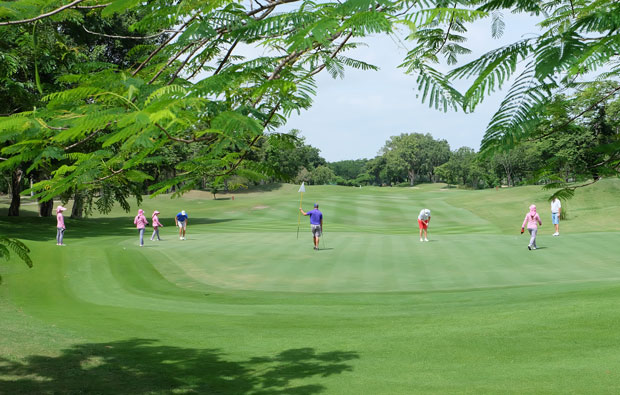 view to green, springfield country club, hua hin, thailand